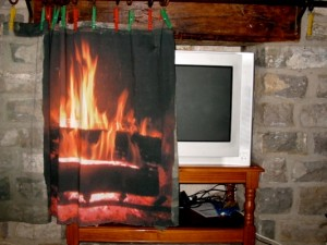 Fire place on cotton